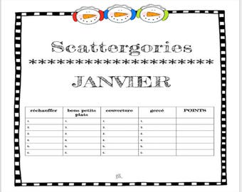 image about Scattergories Junior Lists Printable identified as January Vocabulary Scattergories Video game Printable obtain Etsy