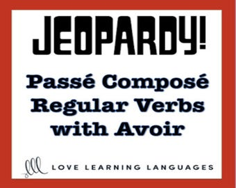French jeopardy game French passé composé with être avoir | Etsy