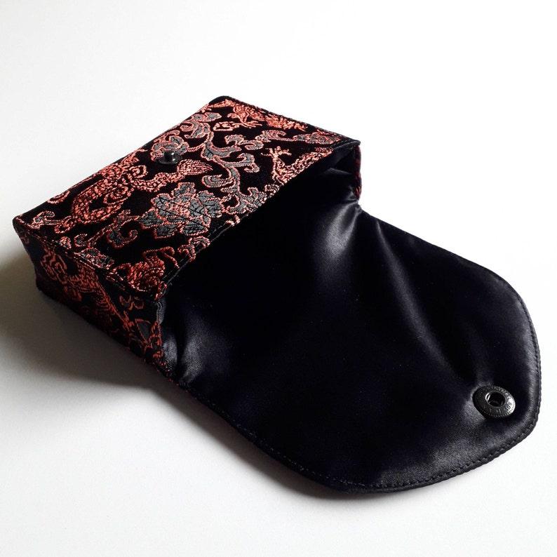 Chinese dragon tarot bag Tarot case Dragon brocade Custom tarot case Brocade Oracle bag