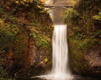 Multnomah Falls, Oregon, DIGITAL PRINT, Travel, Landscape, Fine Art