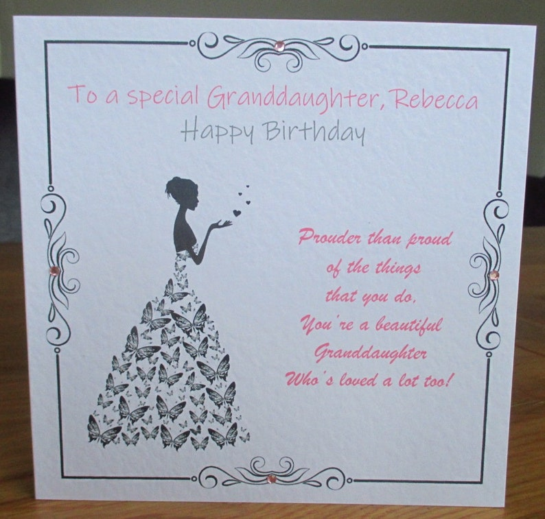Handmade Special Granddaughter Poem Prouder Than Proud Verse