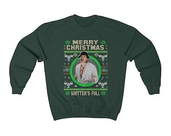 926adc98697 Christmas Vacation Cousins Eddie Shitters Full Christmas Ugly Sweater  Unisex Heavy Blend Crewneck Sweatshirt