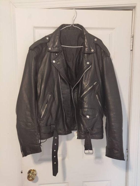 Size 48 leather motorcycle jacket