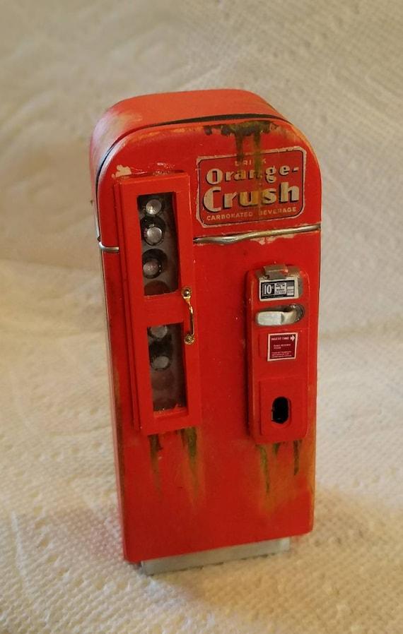 """**SALE** Miniature Dollhouse Antique /""""orange crush/"""" Sign 1:12 vintage pop ad"""