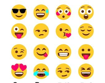 70% OFF, Commercially Usable Emojis Svg, Emoji Clipart, Emoji Smileys, Whatsapp Smileys, Png, Pdf, Eps, Dxf, Emoji Silhouette, Cricut , HTV