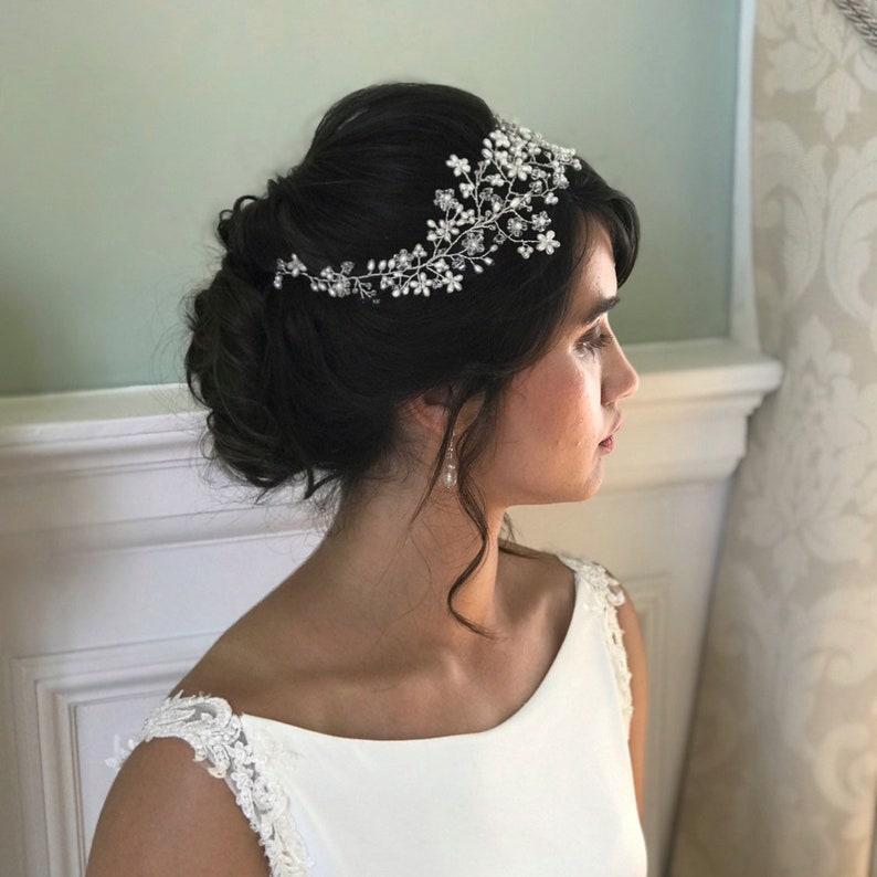 vine pearl hair vine floral hair vine hair vine pearl hair vine Bridal hair vine bridal bridal headpiece