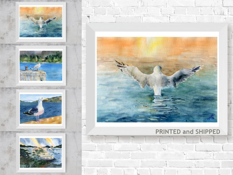 Print Photograph Seascape Birds Wall Decor 10x8 Seagulls Poster Art Picture