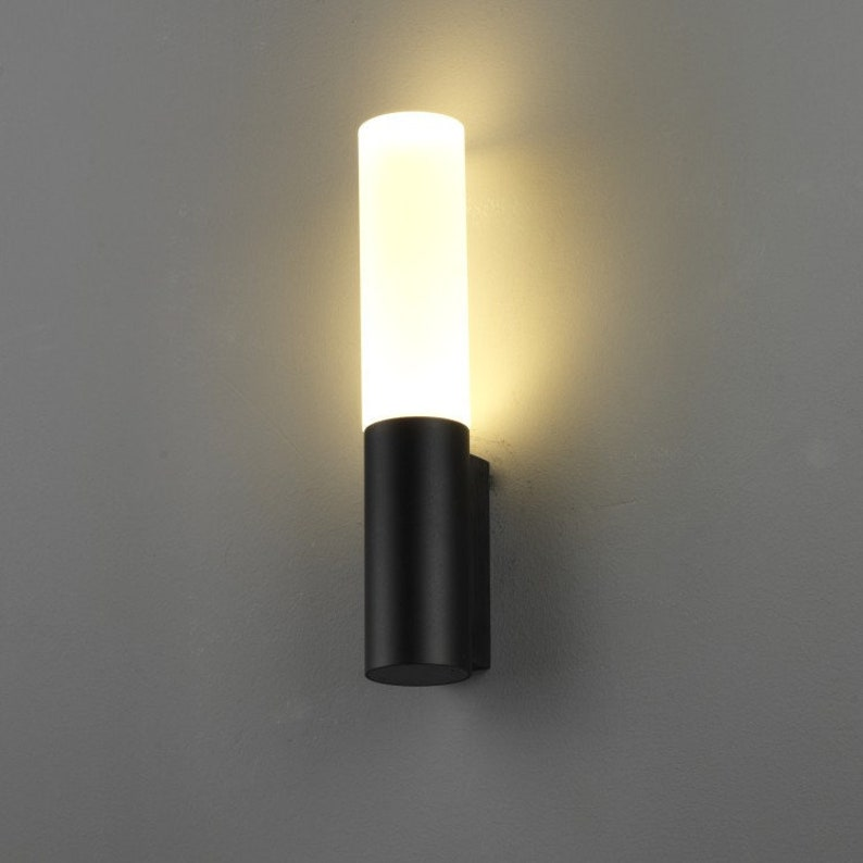 Lwa210 6 Watt Led Outdoor Wall Light Anodized Black Etsy