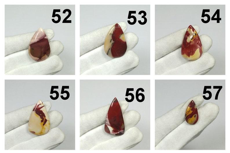 Natural MOOKAITE JASPER PEAR Shape Cabochon Loose GemstoneMookaite JewelryMookaite Gemstone