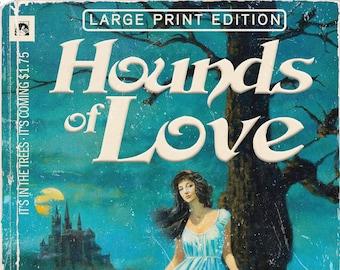 """Kate Bush """"Hounds of Love"""" 1970s Gothic Romance Novel Mashup Art Print"""