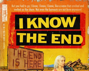 "Phoebe Bridgers ""I Know the End"" 1960s pulp novel mashup art print"