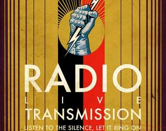 "Joy Division ""Transmission"" 1920s Radio Adverstisement Mashup Art Print"