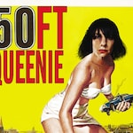 "PJ Harvey ""50 Ft Queenie"" 50ft Woman movie poster mashup print"