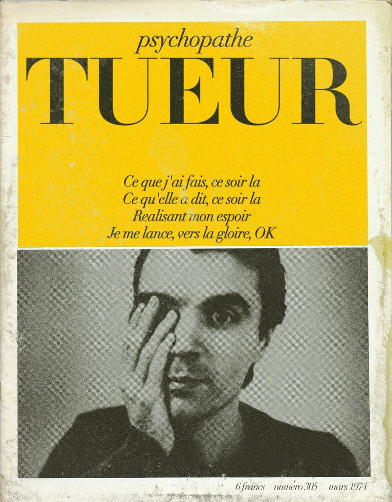 Talking Heads Psycho Killer Cahiers du Cinema image 0