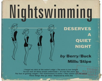 "R.E.M. ""Nightswimming"" Swim Safety Book Mashup Art Print"