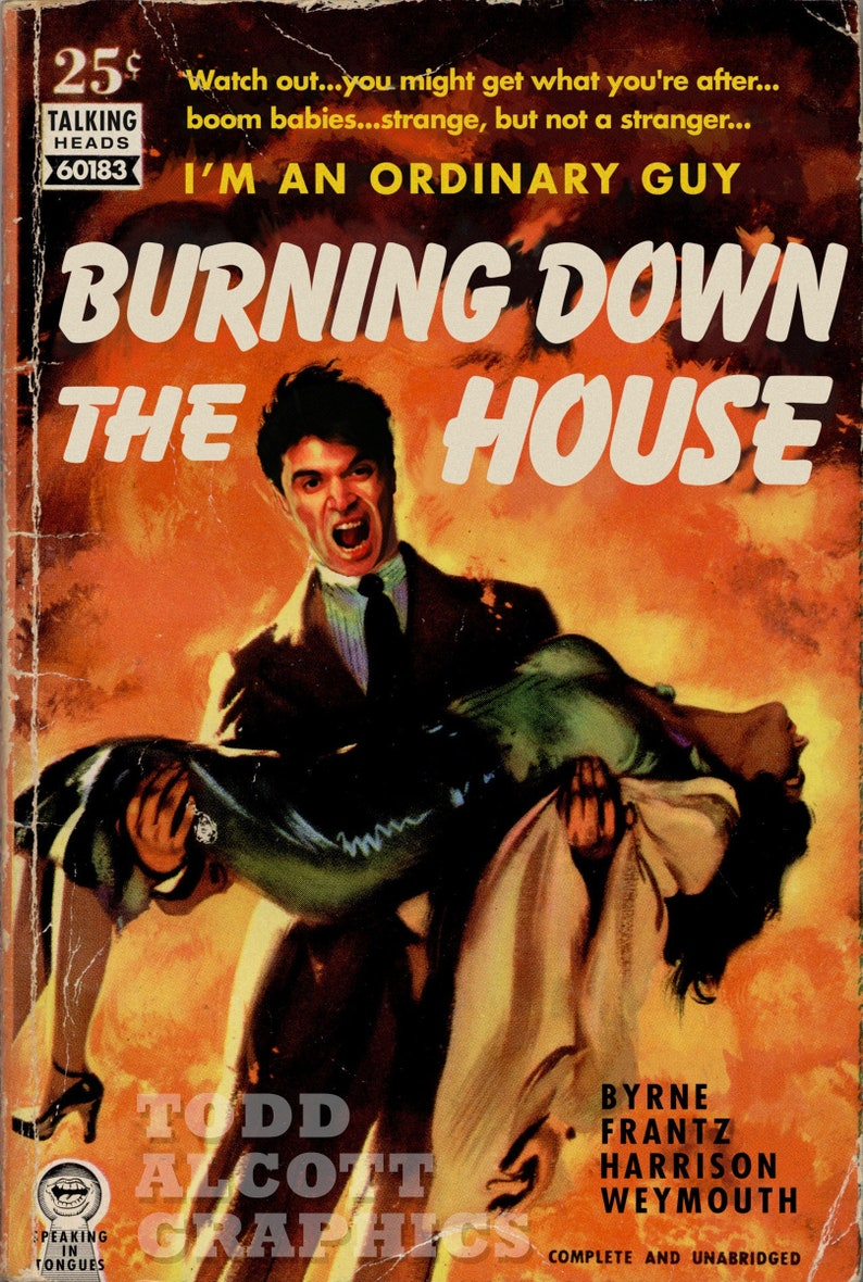 Talking Heads Burning Down the House pulp novel image 0