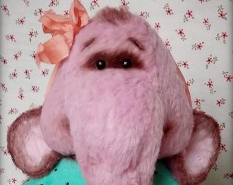 OOAK vintage style artist teddy friend elephant Dorothy