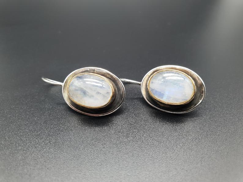Gift for Mom Bridal Earrings Christmas Gift Ideas Rose Quartz Earrings Silver Gemstone Earrings Oval Earrings Elegant Wedding Earrings