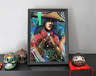 A4 Raya and the Last Dragon Print - Disney Princess - Limited Edition - Digital Illustration Print - Signed and Numbered by Artist - 1 of 50
