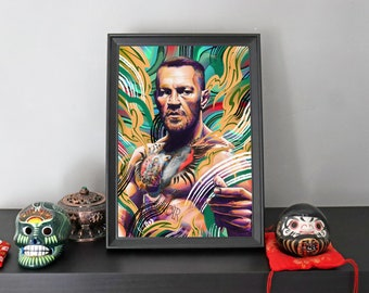 A4 'Notorious' Conor Mcgregor Print - UFC Fighter - Limited Edition - Digital Illustration Print - Signed and Numbered by Artist - 1 of 50