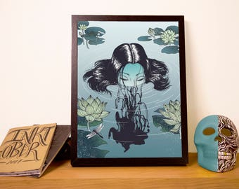 Water Ghost Art Illustration A3 Print/Poster