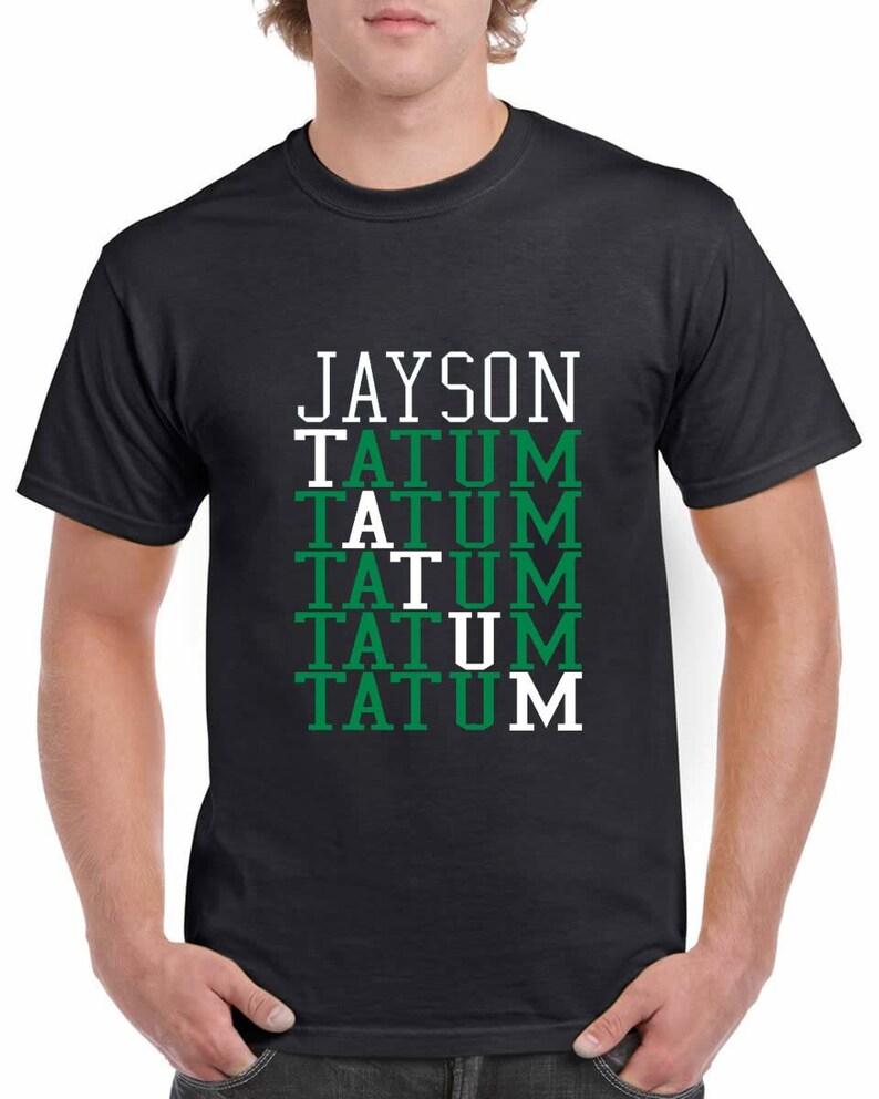 f3159b432cf Boston Celtics Jason Tatum T-Shirt Free Shipping   Etsy