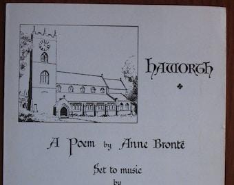 A Poem by Anne Brontë set to Music by J. H. Rhodes Organist and Choirmaster of Haworth Parish Church