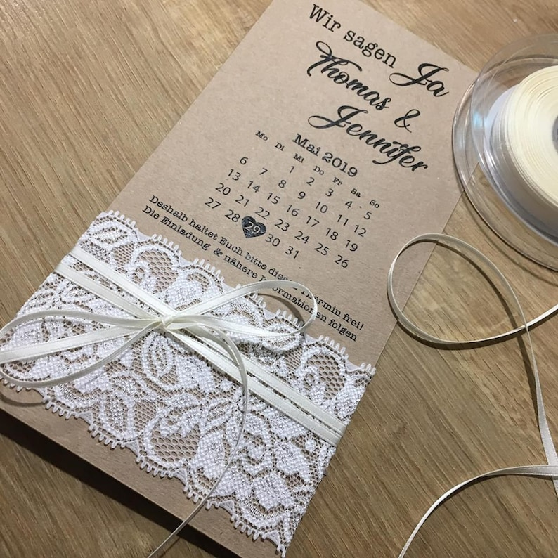 Einladungen Hochzeit 25 x Save the Date Karten zum Rubbeln