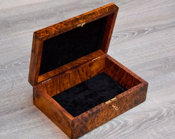 handmade beautiful gifts New Wooden jewelry boxes thuya wooden burl thuya this 2 boxes thuya wood storage boxes two FAST SHIPPING
