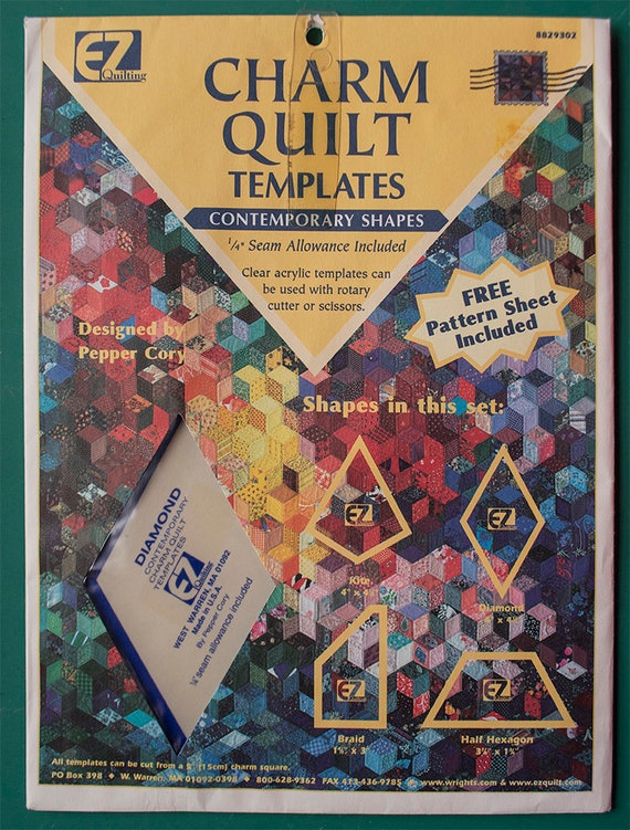 Ez Quilting Charm Quilt Templates By Pepper Cory Contemporary Shapes Reduced Price