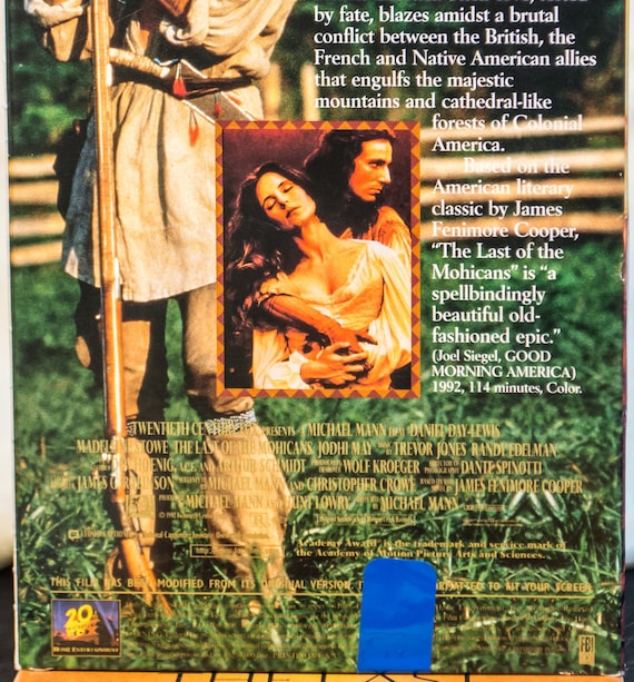 The Last of the Mohicans VHS 1992