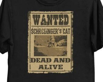 Dead and Alive - Physics T-Shirt - Schrodinger's Cat
