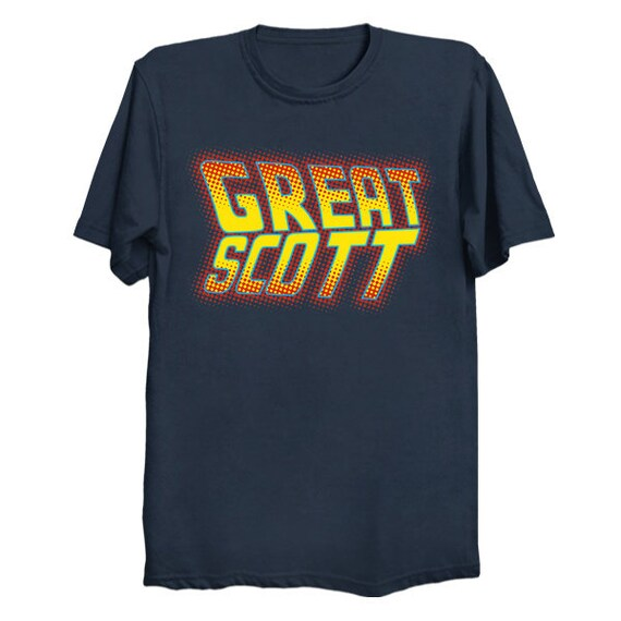 Great Scott Back to the Future T Shirt BTTF Shirt Marty McFly Doc Brown Tee Time Travel Science Fiction T Shirt