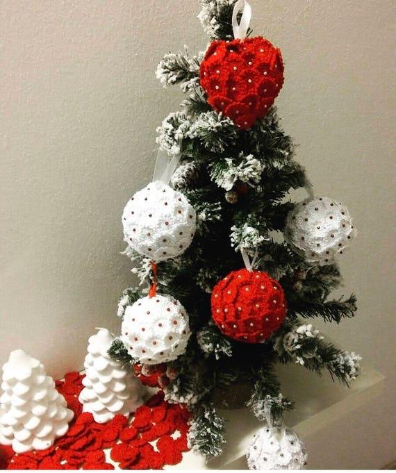 Famoso Palle di Natale fatte a mano all'uncinetto | Etsy AT96