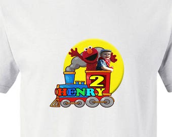 Elmo Train T-Shirt Logo with Child's Photo **Digital Image Only**