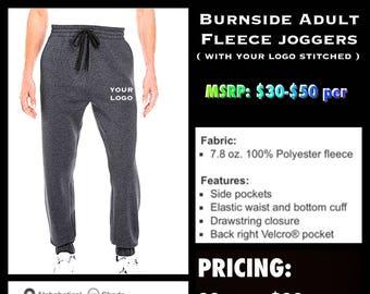 Burnside Fleece Joggers ( with leg logo Embroidered )