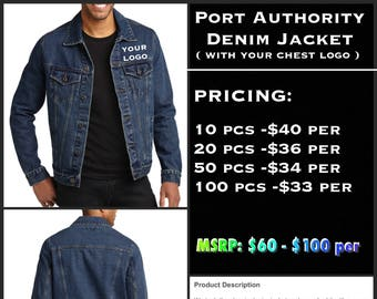 Port Authority Denim Jackets ( with left chest embroidery )