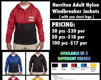 Harriton Nylon Windbreakers ( with left chest embroidery )