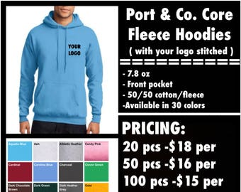 Port & Co. Core Fleece Hoodies ( with left chest embroidery )
