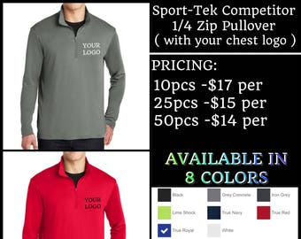 Sport-Tek Competitor 1/4 zip Pullover  ( with left chest logo Embroidered )