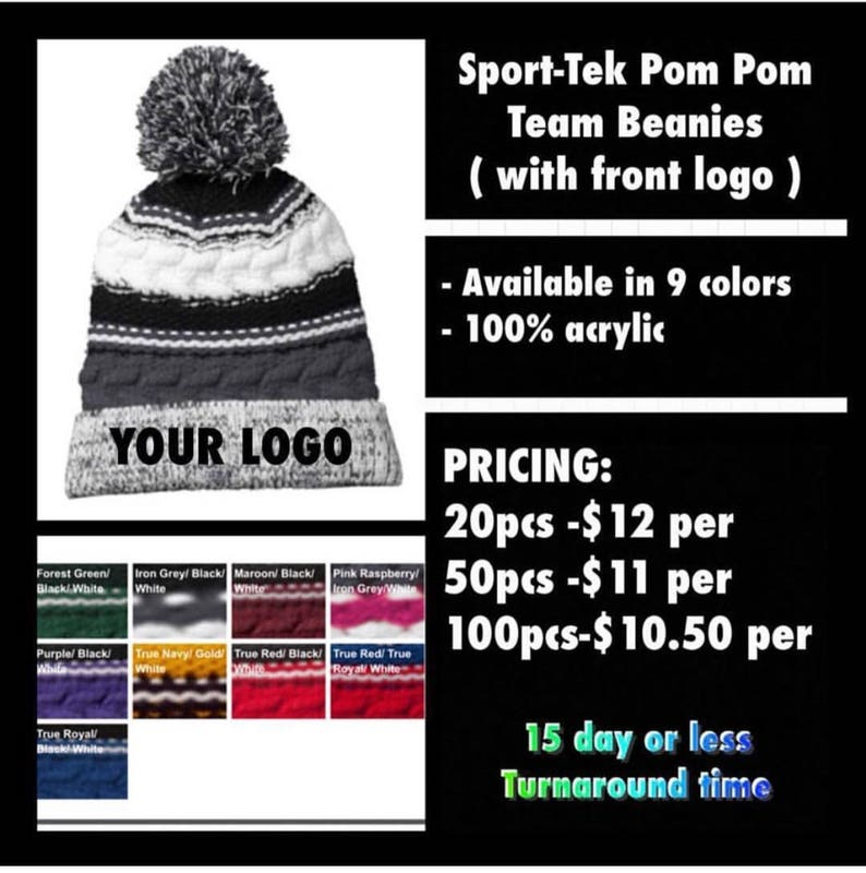 6cc3f2cb0 Maroon Black White SportTek 100 Acrylic Knitted Beanie Hat