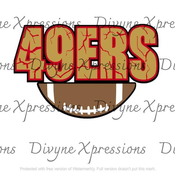San Francisco 49ers Football Svg Png Jpeg Cut File Print Etsy