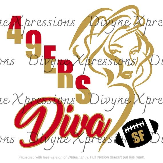 San Francisco 49ers Diva Football Svg Png Jpeg Digital Etsy
