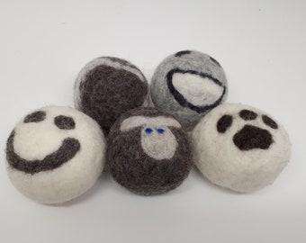 Handmade Wool Dryer Balls (set of 5)