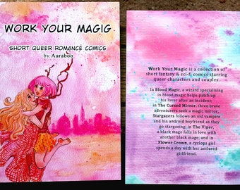 Work Your Magic - short queer romance comics zine comic book