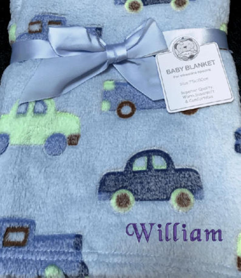 PERSONALISED BABY BOY BLANKET NEW BABY GIFT//SHOWER