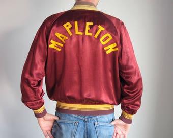 1940s 50s men's satin jacket Mapleton