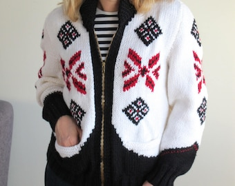 Brand new women's vintage 1961 knitted jacket (knitted in 2017)