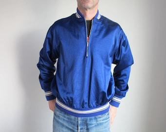 Vintage original '50s pullover satin jacket - Superb color and condition! vtg