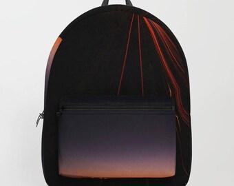 Light beam backpack, colorful backpack, night sky backpack, sunset backpack
